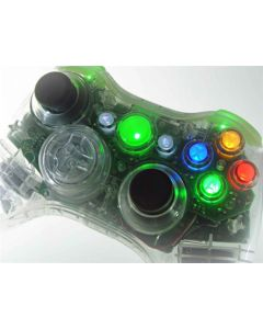 XCM Smooth as Silk Xbox 360 Wireless Controller Shell/Case with New D-Pad - Crystal Clear